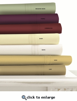 Tribeca Living 500 Thread Count Egyptian Cotton Sateen Extra Deep Pocket Sheet Set