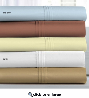 Wrinkle Resistant Egyptian Cotton 500 Thread Count 6-Piece Extra Deep Pocket Sheet Set