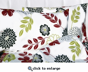 Floral Printed Deep Pocket Flannel Sheet Set