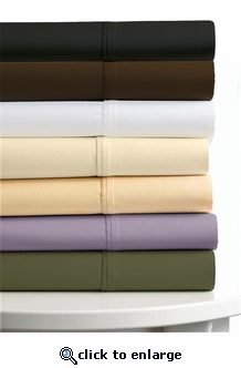 Tribeca Living Egyptian Cotton Percale 300 Thread Count Twin Extra Deep Fitted Sheet Set