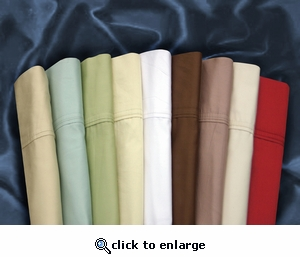 Tribeca Living Egyptian Cotton Sateen 300 Thread Count Pillowcases