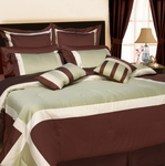 "Tribeca Living ""Vienna"" 8-Piece Cotton Comforter Set"