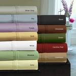 Tribeca Living 350 Thread Count Egyptian Cotton Sateen Extra Deep Pocket Sheet Set
