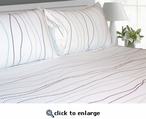 Tribeca Living Dot Printed Deep Pocket Flannel Sheet Set