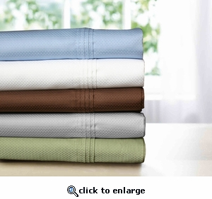 Tribeca Living Dobby 300 Thread Count Egyptian Cotton Pillowcases