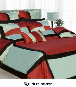 "Tribeca Living ""Allure"" 8-Piece Cotton Comforter Set"