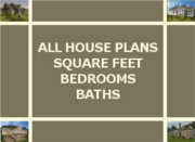 HOUSE PLAN SQUARE FOOT SIZE, BEDROOMS, BATHS