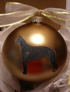 Greyhound Hand Painted Christmas Ornament