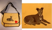 Greyhound Puppy Messenger Bag