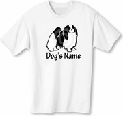Japanese Chin T-shirt Personalized with Dog's Name