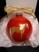 Miniature Horse Hand Painted Christmas Ornament