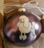 Poodle-Toy, Mini, Standard Hand Painted Christmas Ornament