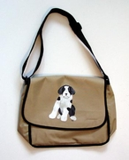 Bearded Collie Puppy Messenger Bag