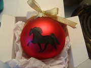 Tennessee Walking Horse Hand Painted Christmas Ornament