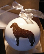 Chesapeake Bay Retriever Hand Painted Christmas Ornament