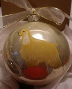 Cocker Spaniel Hand Painted Christmas Ornament