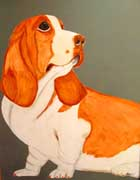 Basset Hound Unique Art Print