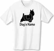 Silky Terrier T-Shirt Personalized with Dog's Name