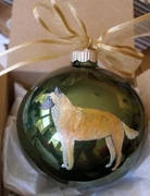Belgian Malinois Hand Painted Christmas Ornament