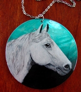 Andalusian Lusitano Hand Painted Necklace