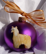 Chinese Crested-Powder Puff Hand Painted Christmas Ornament