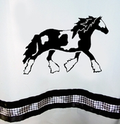 Gypsy Cob/Vanner Shower Curtain