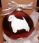 West Highland White Terrier Hand Painted Christmas Ornament
