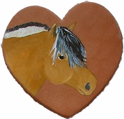 Norwegian Fjord Hand Painted Leather Pin