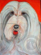 Bearded Collie Original Art T-Shirt