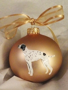Pointer Hand Painted Christmas Ornament