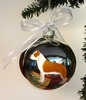 American Staffordshire Terrier Hand Painted Christmas Ornament