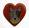 Australian Cattle Dog Hand Painted Pin