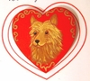 Australian Terrier Hand Painted Pin
