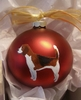 Beagle Hand Painted Christmas Ornament