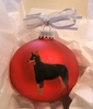 Beauceron Hand Painted Christmas Ornament
