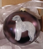 Bedlington Terrier Hand Painted Christmas Ornament