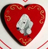 Bedlington Hand Painted Pin