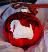 Sealyham Terrier Hand Painted Christmas Ornament