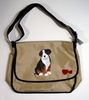 Bernese Mountain Dog Puppy Hand Painted Messenger Bag