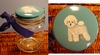 Bichon Frise Hand Painted Treat Jar