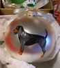 Black and Tan Coonhound Hand Painted Christmas Ornament
