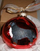 Bernese Mountain Dog Hand Painted Christmas Ornament