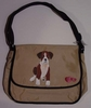 Boxer Puppy Hand Painted Messenger Bag