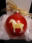 Belgian Draft Hand Painted Christmas Ornament