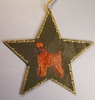 Brussels Griffon Hand Painted Tree Topper/ Window Star