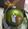 Bulldog Hand Painted Christmas Ornament
