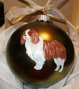 Cavalier King Charles Spaniel Hand Painted Christmas Ornament