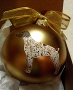 German Shorthaired Pointer Hand Painted Christmas Ornament