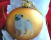 Pug Hand Painted Christmas Ornament