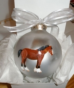 Clydesdale Hand Painted Christmas Ornament